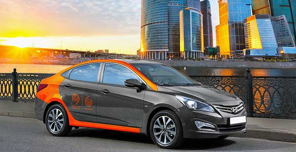Hyundai Solaris используют в системе каршеринга