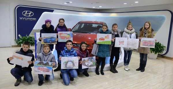 Санкт-Петербургский завод Hyundai встретил финалистов конкурса рисунков Соляриса