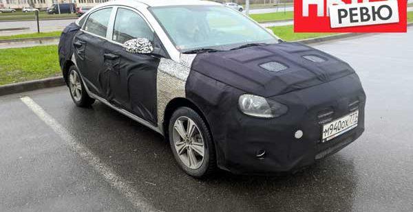 Новые фотографии следующего поколения Hyundai Solaris