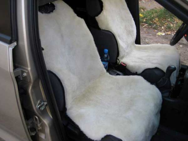 Меховые накидки на автомобильные сиденья