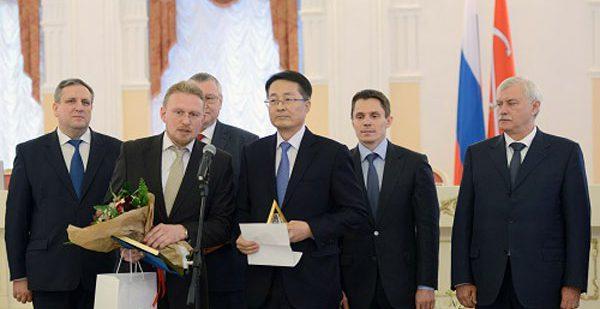 Правительством Петербурга заводу «Хендэ Мотор Мануфактуринг Рус» была вручена награда за производство высококачественной продукции